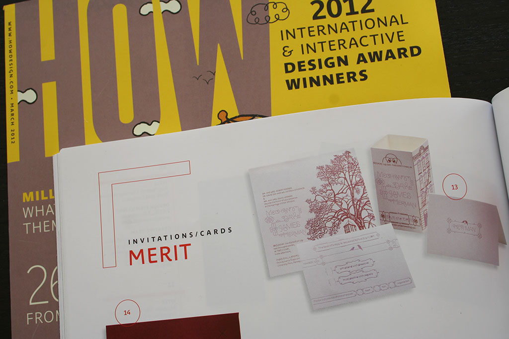 HOW Design Award Invitations Cards