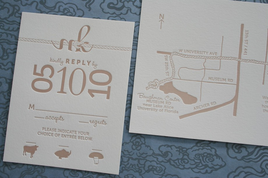 response card wedding map